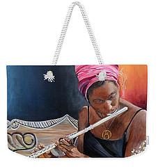 Flute Player Weekender Tote Bag