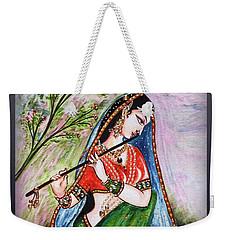 Flute Playing In - Krishna Devotion  Weekender Tote Bag