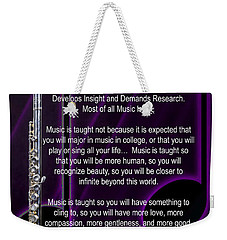 Flute Why Music Photographs Or Pictures For T-shirts 4824.02 Weekender Tote Bag