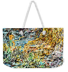 Weekender Tote Bag featuring the painting Flutes Breath by Alfred Motzer