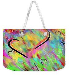 Fluttering Hearts Weekender Tote Bag by Jason Nicholas
