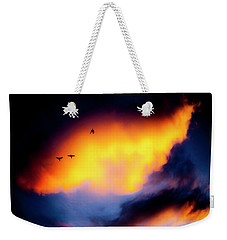Weekender Tote Bag featuring the photograph Fly Away by Eric Christopher Jackson