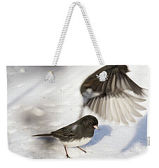 Weekender Tote Bag featuring the photograph Fly By by Gary Wightman