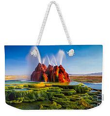 Fly Geyser Panorama Weekender Tote Bag