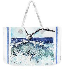 Weekender Tote Bag featuring the painting Fly High by Heidi Kriel