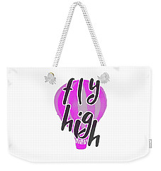 Weekender Tote Bag featuring the digital art Fly High by Judy Hall-Folde