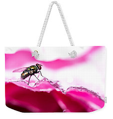 Weekender Tote Bag featuring the photograph Fly Man's Floral Fantasy by T Brian Jones