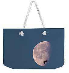 Weekender Tote Bag featuring the photograph Fly Me To The Moon by Alex Lapidus
