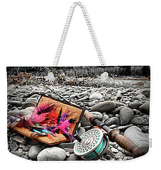 Fly Rod And Streamers Portrait Weekender Tote Bag