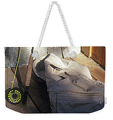 Fly Rod And Vest Weekender Tote Bag