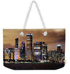 Cubs World Series Chicago Skyline Weekender Tote Bag by Horsch Gallery