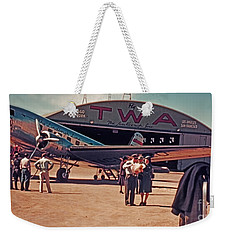 Fly Twa The Lindberg Line By Henry Bosis Weekender Tote Bag