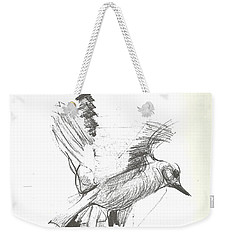 Flying Bird Sketch Weekender Tote Bag