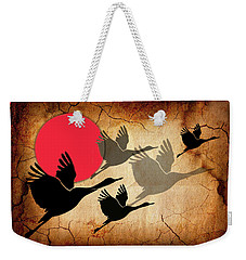 Flying Cranes Weekender Tote Bag