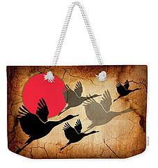 Flying Cranes Weekender Tote Bag