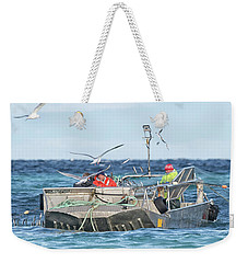 Weekender Tote Bag featuring the photograph Flying Fish by Randy Hall