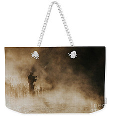 Weekender Tote Bag featuring the photograph Flying Fishing by Iris Greenwell