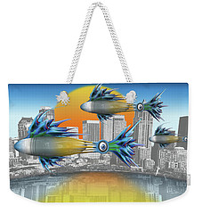 Flying Fisque  Weekender Tote Bag by Steve Sperry