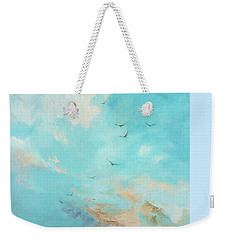 Weekender Tote Bag featuring the painting Flying High by Dina Dargo
