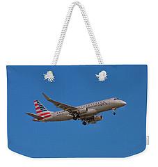 Flying In American Eagle Embraer 175 N426yx Weekender Tote Bag
