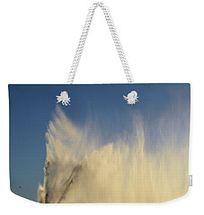 Weekender Tote Bag featuring the photograph Flying Past The Water Three  by Lyle Crump