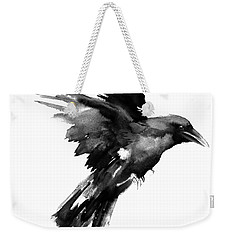 Flying Raven Weekender Tote Bag by Suren Nersisyan