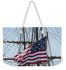 Weekender Tote Bag featuring the photograph Flying The Flags by Dale Kincaid