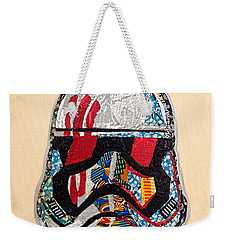 Weekender Tote Bag featuring the tapestry - textile Storm Trooper Fn-2187 Helmet Star Wars Awakens Afrofuturist Collection by Apanaki Temitayo M