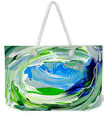 Weekender Tote Bag featuring the painting Foam 2 by Fred Wilson