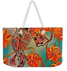 Focus Flower  Weekender Tote Bag by Miriam Moran