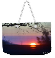 Weekender Tote Bag featuring the photograph  Focusing On A New Day by Angela J Wright