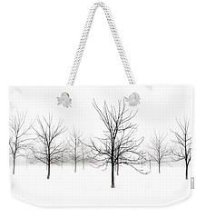 Fog And Winter Black Walnut Trees  Weekender Tote Bag