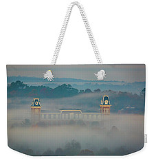 Fog At Old Main Weekender Tote Bag by Damon Shaw