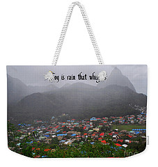 Weekender Tote Bag featuring the photograph Fog by Gary Wonning