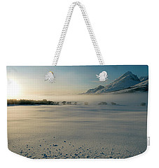 Fog In Lofoten 5 Weekender Tote Bag by Dubi Roman