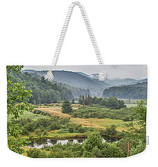 Weekender Tote Bag featuring the photograph Fog In The Adirondacks by Sue Smith