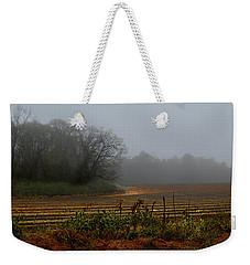 Fog In The Field Weekender Tote Bag