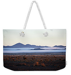 Fog In The Peloncillo Mountains Weekender Tote Bag