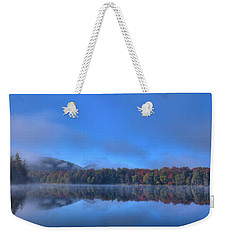 Weekender Tote Bag featuring the photograph Fog Lifting On West Lake by David Patterson