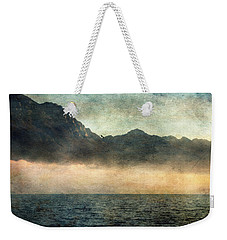 Fog On Garda Lake Weekender Tote Bag