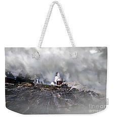 Fog On Pemaquid Point Weekender Tote Bag