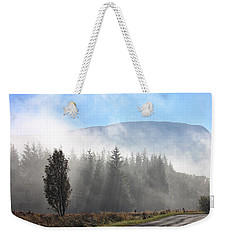 Fog On The Road To Fintry Weekender Tote Bag