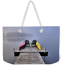 Weekender Tote Bag featuring the photograph Fog On West Lake by David Patterson