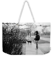 Weekender Tote Bag featuring the photograph Fog Rain by Jeanette O'Toole