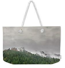 Fog Rolling Over Columbia River Gorge Weekender Tote Bag