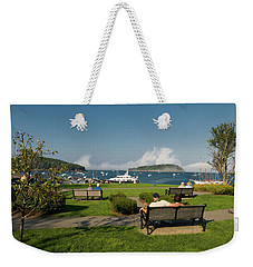 Fog Show Over The Porcupine Islands Weekender Tote Bag
