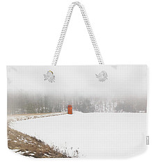 Weekender Tote Bag featuring the digital art Fogged In by Sue Collura