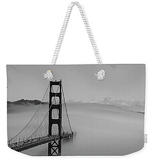 Weekender Tote Bag featuring the photograph Fogging The Bridge by David Bearden