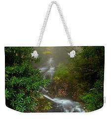 Foggy Autumn Cascades Weekender Tote Bag