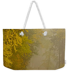Foggy Autumn Morn Weekender Tote Bag